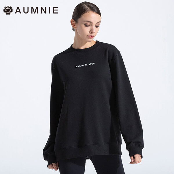 【アムニー】フレンチヨガスウェットシャツ
