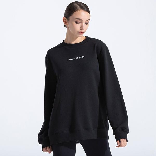 【アムニー】フレンチヨガスウェットシャツ/ブラック