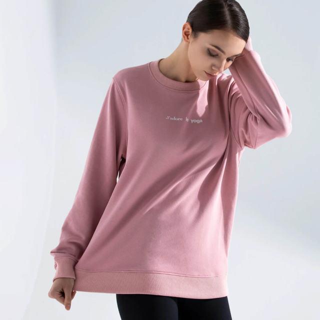 【アムニー】フレンチヨガスウェットシャツ/ピンク