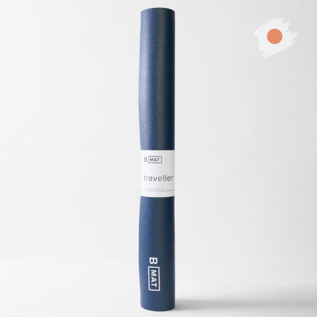 【ビーヨガ】日本限定61cm幅 ナローワイドBマット トラベラー2mm/ディープブルー