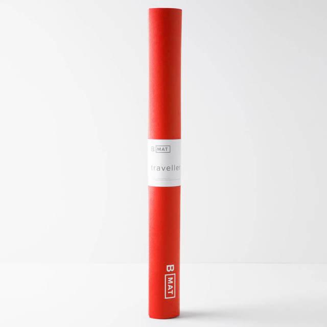 【ビーヨガ】Bマット トラベラー2mm/サンライズレッド