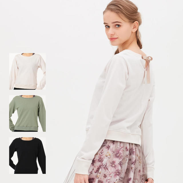【チャコット】ロングスリーブリボンTシャツ