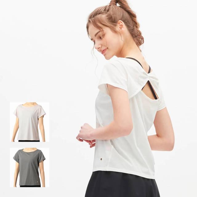 【チャコット】バックリボンTシャツ