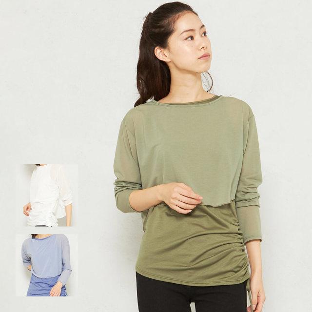 【チャコット】レイヤードシアーTシャツ