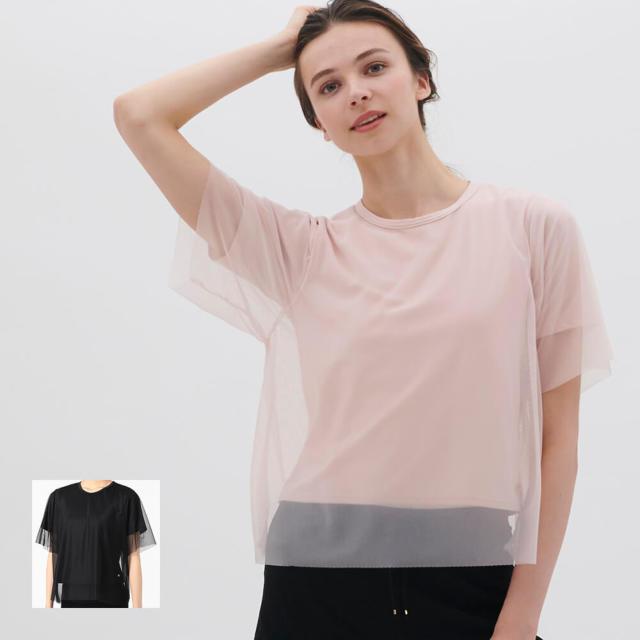 【チャコット】チュールコンビTシャツ