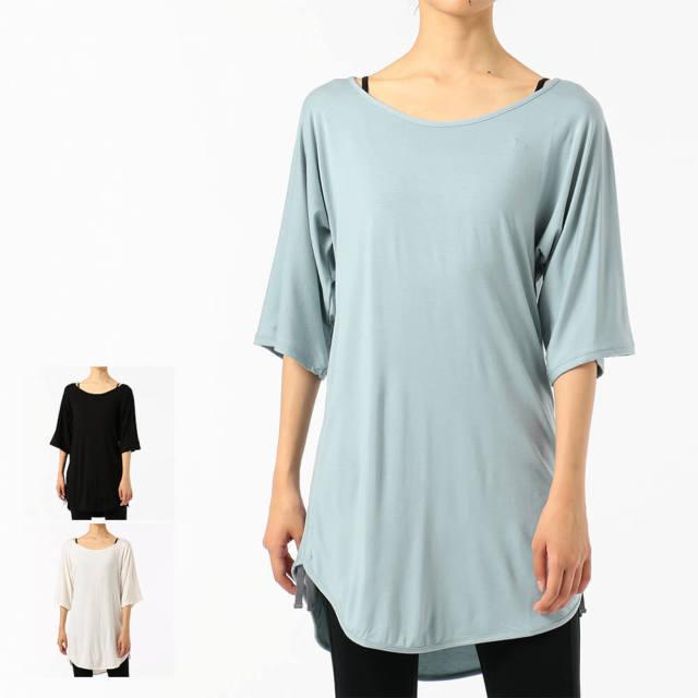 【チャコット】オーバーサイズドローストリングTシャツ