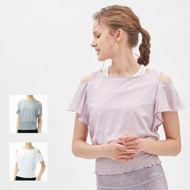 【チャコット】シャーリングシャツ