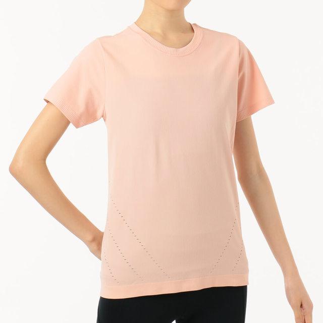 【チャコット】メッシュジャガードTシャツ