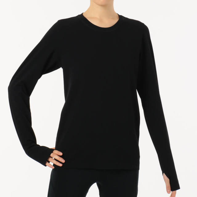【チャコット】メッシュジャガード長袖Tシャツ