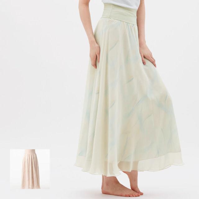 【チャコット】ウェーブリープリントスカート