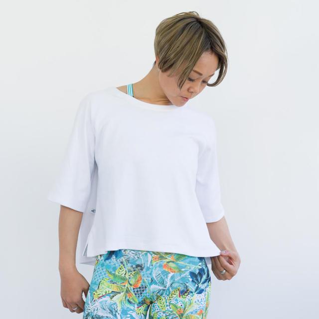 【リンダワークス】コットン五分袖Tシャツ