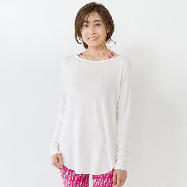 【リンダワークス】ロングスリーブTEE/オフホワイト