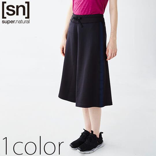 【[sn]スーパーナチュラル】コンフォートリブスカートパンツ